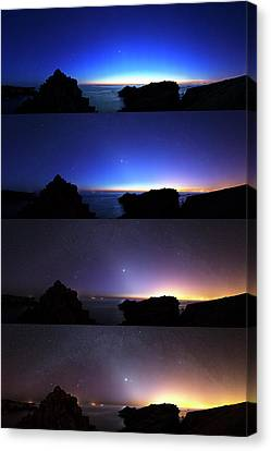 Changing Night Sky Canvas Print by Laurent Laveder