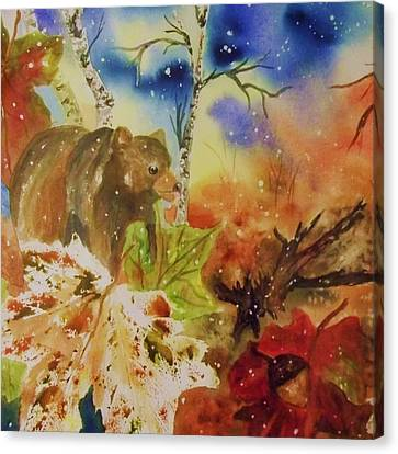 Changing Of The Seasons - Square Format Canvas Print by Ellen Levinson