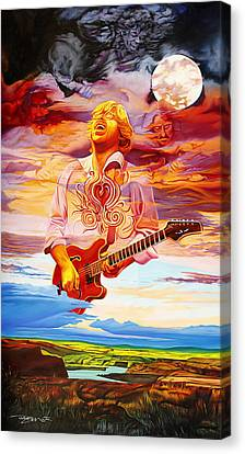 Channeling The Cosmic Goo At The Gorge Canvas Print by Joshua Morton