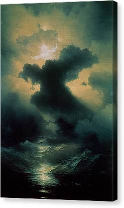 Chaos The Creation Canvas Print by Ivan Konstantinovich Aivazovsky