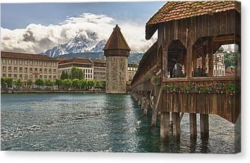 Chapel Bridge Lucerne Switzerland Canvas Print by Jack Nevitt