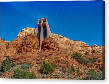Chapel Of The Holy Cross Sedona Az Front Canvas Print by Scott Campbell