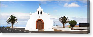 Chapel On A Hill, Tiagua, Lanzarote Canvas Print by Panoramic Images