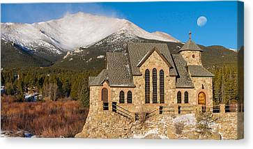 Chapel On The Rock Canvas Print by Aaron Spong