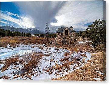 Chapel On The Rock Canvas Print by Bryce Bradford