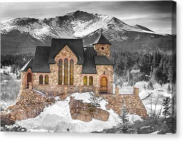 Chapel On The Rock Bwsc Canvas Print by James BO  Insogna