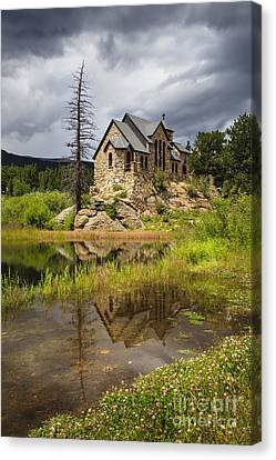 Chapel On The Rock Canvas Print by Dennis Hedberg