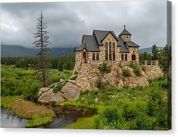 Chapel On The Rock - II Canvas Print by Jeff Stoddart