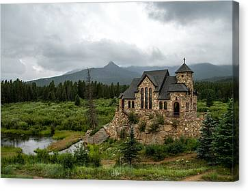 Chapel On The Rock Canvas Print by Jeff Stoddart