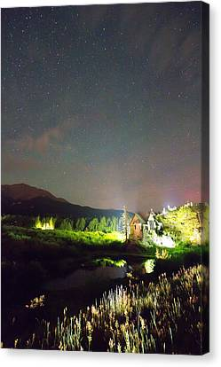 Chapel On The Rock Stary Night Portrait Canvas Print by James BO  Insogna