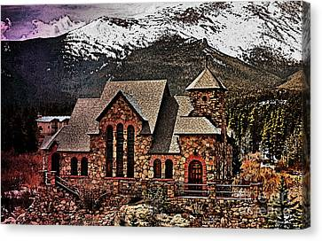 Chapel On The Rock  Watercolor Canvas Print by Cheryl Young