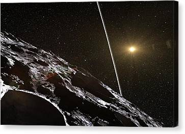 Chariklo Minor Planet And Rings Canvas Print by European Southern Observatory