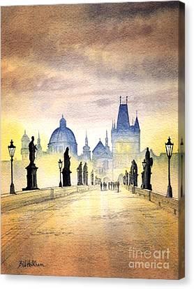 Charles Bridge Prague Canvas Print by Bill Holkham