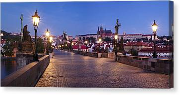 Charles Bridge With Castle District Canvas Print by Panoramic Images