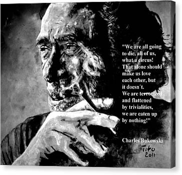 Charles Bukowski Canvas Print by Richard Tito