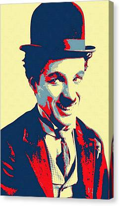 Charles Chaplin Charlot Canvas Print by Art Cinema Gallery