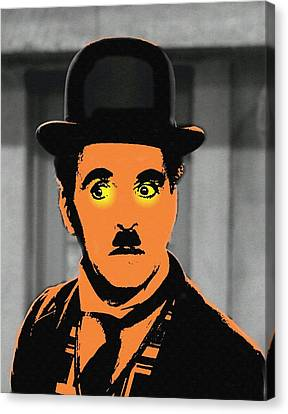 Charles Chaplin Charlot In The Great Dictator Canvas Print by Art Cinema Gallery