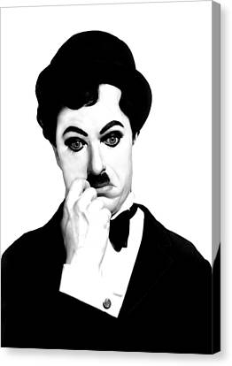 Charles Chaplin Canvas Print by Gina Dsgn