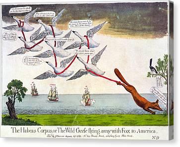 Charles Fox: Cartoon, 1782 Canvas Print by Granger