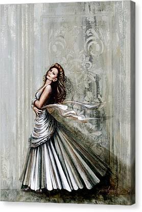 Charles James Swan Gown Canvas Print by Joan Garcia