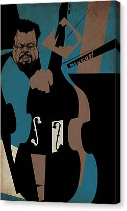 Charles Mingus Canvas Print by Thomas Seltzer