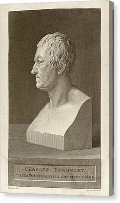 Charles Townley Canvas Print by Middle Temple Library
