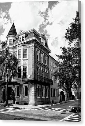 Charleston Corner Charleston Sc Canvas Print by William Dey