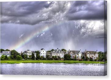 Charleston Rainbow Homes Canvas Print by Dustin K Ryan