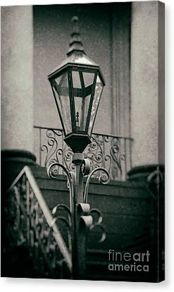 Charleston Wrought Iron Lamp Canvas Print by Jerry Fornarotto