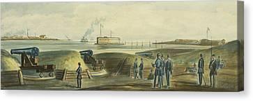 Charlestons Defense Circa 1863 Canvas Print by Aged Pixel