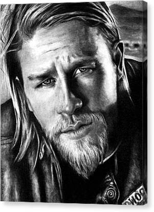 Charlie Hunnam As Jax Teller Canvas Print by Rick Fortson