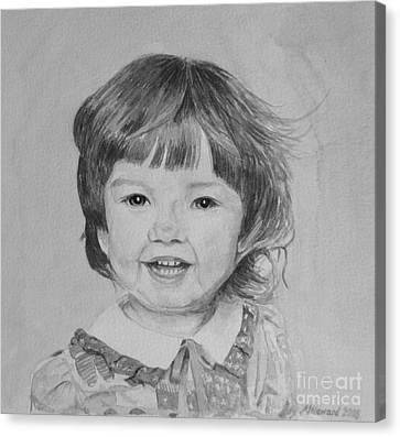 Charlotte B/w Canvas Print by Martin Howard