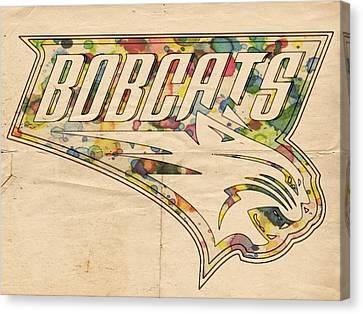 Charlotte Bobcats Vintage Poster Canvas Print by Florian Rodarte