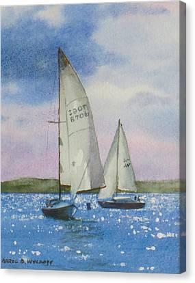 Charlotte Harbor Sail Canvas Print by Karol Wyckoff