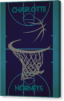 Charlotte Hornets Court Canvas Print by Joe Hamilton