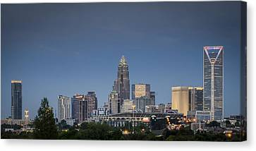 Charlotte Skyline - Clear Evening Canvas Print by Brian Young