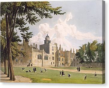 Charter House From The Play Ground Canvas Print by William Westall