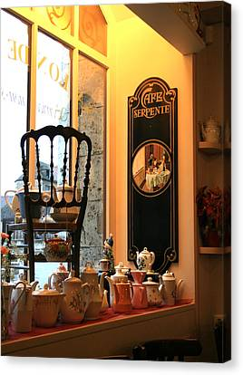 Chartres Cafe Canvas Print by A Morddel