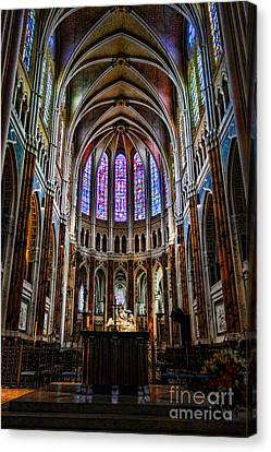 Chartres Canvas Print by Olivier Le Queinec