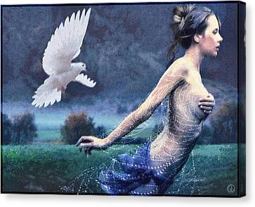 Chased By Purity Canvas Print by Gun Legler