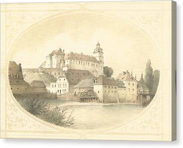 Chateau Brandys Nad Labem Canvas Print by Jenny Rainbow