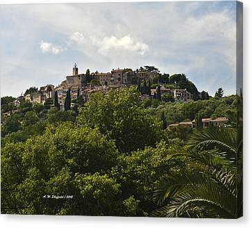 Chateauneuf Du Grasse Canvas Print by Allen Sheffield