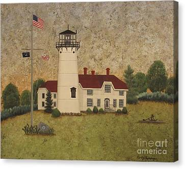 Chatham Light Canvas Print by Becky Humbarger