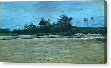 Chatham Lighthouse Canvas Print by Erik Schutzman