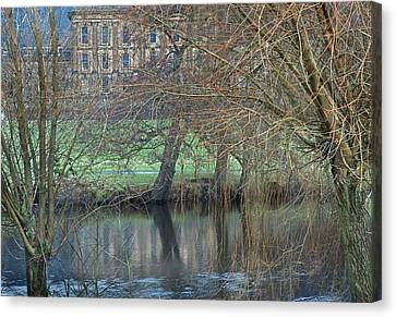 Chatsworth House December Canvas Print by Jerry Daniel