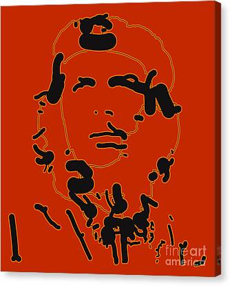 Che Guevara Abstract  Canvas Print by Pixel Chimp
