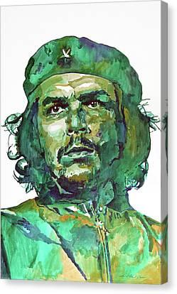 Che Guevara Canvas Print by David Lloyd Glover