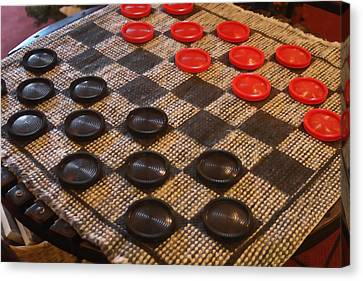 Checkers Canvas Print by Art Block Collections