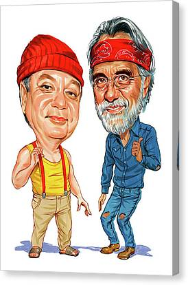 Cheech Marin And Tommy Chong As Cheech And Chong Canvas Print by Art