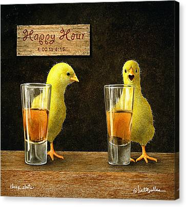 Cheep Shots... Canvas Print by Will Bullas